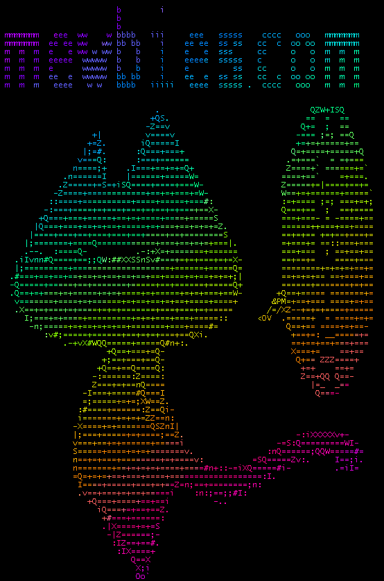 One Line Ascii Art Music : Fun on the terminal part get colorized
