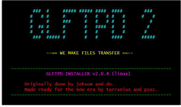 How to Install glFTPd - Full Version
