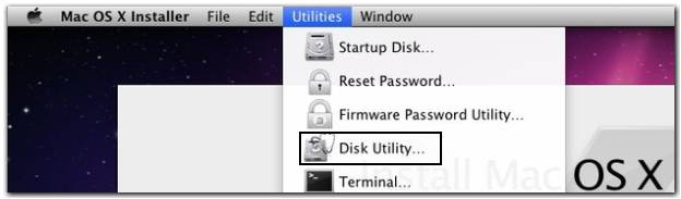 Select Disk Utility